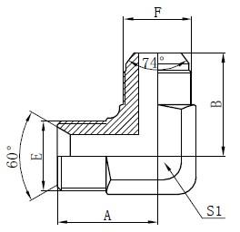 BSP hidraulisko adapteru rasējums