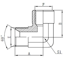 Elkoņa BSP adaptera stiprinājumi Zīmējums