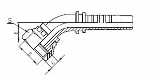 R1AT hidrauliskās šļūtenes montāža