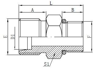 SAE O-gredzena šļūtenes savienotāji Zīmējums