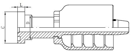 SS caurules savienotāja rasējums